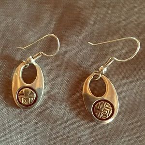 Jewelry - Silver and yellow gold earrings